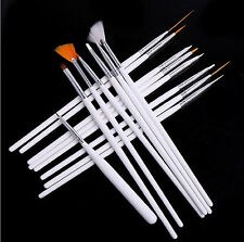 Hot 15pc Nail Art UV Gel Design Brush Set Painting Pen Manicure Tips Tools