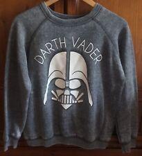Star Wars Women's Darth Vader Sweatshirt, Size Large, Gray, Retro Vintage Look