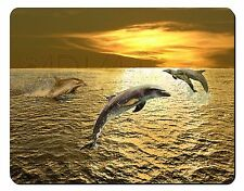 Gold Sea Sunset Dolphins Computer Mouse Mat Christmas Gift Idea, AF-D4M