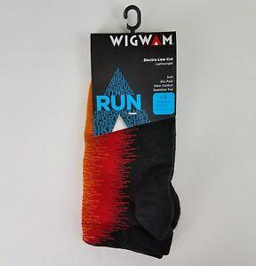 Wigwam Run Lightweight Electra Low Cut Running Socks, Black & Red Large L