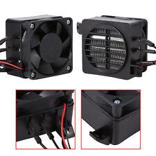 100W 12V PTC Heater Fan Air Heater Constant Temperature Thermistor Insulation