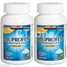 Kirkland Ibuprofen Capsules 200 mg Generic ADVIL Liqui-Gels 180 x 2 360 Softgels