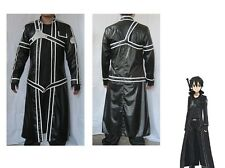 Sword Art Online Aincrad Kirito Anime Cosplay Costume halloweeen Full size
