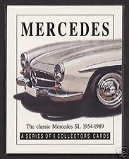 MERCEDES SL - Collectors Card Set - 190SL 280SL 300SL Coupe Roadster 350SL 500SL