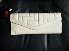 HOBO INTERNATIONAL Holly Wristlet/Organizer/Clutch Cream Leather New with tags