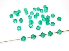 Swarovski® Perlen, 4mm Bicone, light emerald, 50 Stück #SW28