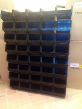 40 X CLEARANCE USED BARTON BLACK RECYCLED PLASTIC TC3 PLASTIC PARTS STORAGE BINS