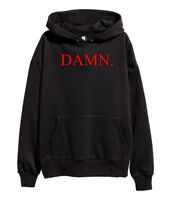 Kendrick Lamar DAMN Red Logo Hoodie Hip Hop Rap Sweatshirt merch Compton Black