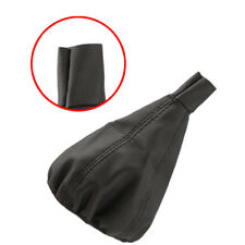 PU Leather Black Gear Shift Stick Gaiter Boot Dust Proof Cover For Universal Car
