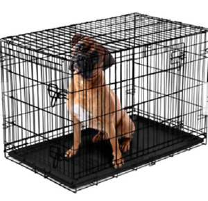 Vibrant Life, Double-Door Folding Dog Crate with Divider, XX-Large, 48