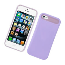 For Apple iPhone 5 5S SE TPU Candy HYBRID GLOW Case Phone Cover Purple accessory