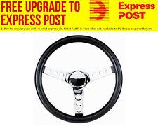 "Grant 13-1/2"" Classic Series Steering Wheel Chrome 3 Spoke, Black Vinyl Grip. 3-"