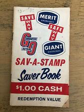 Merit Gas Giant Gas Guaranteed Octane Save Way Stamp Saver Book Vintage