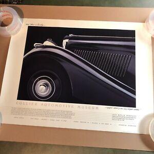 1989 B&W Collier Automotive Museum Rolls Bentley Vintage Car/Automotive Poster
