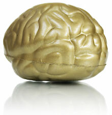 Brain Stress Ball Gold reliever stocking filler Christmas gift ADHD toy