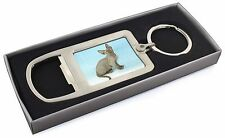 Blue Grey Devon Rex Kitten Cat Chrome Metal Bottle Opener Keyring in , AC-175MBO