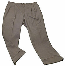 Mens Gray TOWNCRAFT Pleated Dress Pants 44 X 31 1/4 Polyester Wool Blend