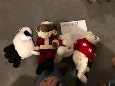 Hallmark Plush Teddy Lot (4) Bearer of gifts, Kris the bear, Lambsie Divy, New