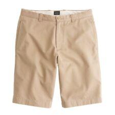 J Crew Shorts Mens 32 Beige Flat Front Size Cotton Chino Short 67722 Twill Man**