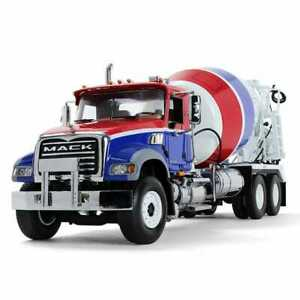 1:34 First Gear RED WHITE BLUE MACK GRANITE w/McNeilus Bridgemaster Cement Mixer