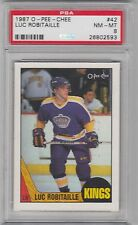 1987 O - Pee - Chee, Luc Robitaille, Los Angeles Kings, PSA 8,  NM - MT