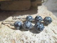 Boucles d'oreilles avec perles en pierre et rocailles