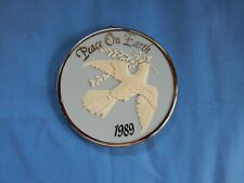 Peace On Earth 1989 Dove American Greetings Disc Christmas Ornament