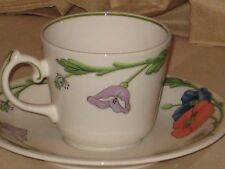 VILLEROY & BOCH AMAPOLA CUP AND SAUCER SET - MINT CONDITION