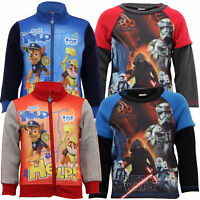 Boys Paw Patrol Star Wars Sweatshirt Nickelodeon Kids Print Fleece Lined Winter