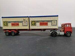 Matchbox Scammell Tractor Super King K-17 Trailer Containers 1973 #SH-SH2 ga1778