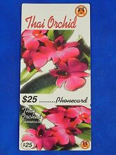 Vintage Collectible Prepaid Phone Card Thai Orchid $10 USED Pink Flower
