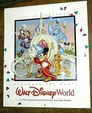 1996-1997 Walt Disney World 25th Anniversary 15-Month Wall Calendar New, Sealed