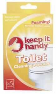 Keep it Handy TOILET CLEANING POWDER Foaming 5 Sachets Bathroom Cleaning UK