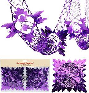 Christmas Concepts® 2 x 9ft Garland Festive Decorations - Purple (FL12)