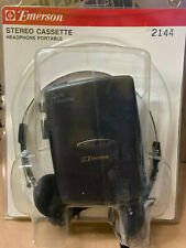 New Emerson Ac2144 Auto Reverse Bass Portable Stereo Cassette Player