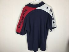 Vintage Tommy Hilfiger Spellout polo t shirt L flag color block rugby sailing