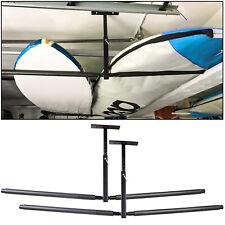 New listing Adjustable 2 Kayak Ceiling Rack 2 Storage Hanger Overhead Mount total 150 lbs