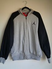 ae7352e12ec3 New ListingNIKE JORDAN Cotton Varsity Style Long Sleeve Zip Up Jacket  Blk Gray -US Mens XL