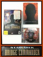 STAR TREK BRIDGE COMMANDER (2002) HTF Small Box PC *VGC*