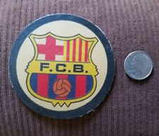 100% LEATHER  FC Barcelona, Soccer FOOTBALL Team sew on  Patch Emblem ... New