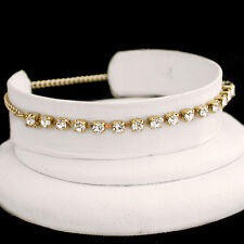 """11"""" WHITE 3mm Austrian CRYSTAL Tennis 14k GOLD GL Anklet FOOT CHAIN 