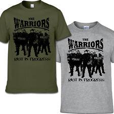 THE WARRIORS  - RIOT IN PROGRESS T-SHIRT S-3XL Skinhead Last Resort Punk Oi!