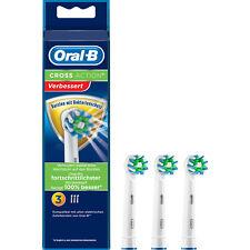 Neu! Original Oral-B Cross Action Aufsteckbürsten - 3er Pack -  Ersatzbürsten