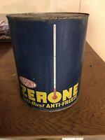 Vintage DUPONT Zerone Antifreeze 1 Gallon Metal ZERONE ROUND OIL ANTIFREEZE Can