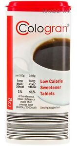 COLOGRAN 1200 LOW COLORIE SWEETENER TABLETS 72g