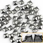 100 x Práctico 10mm Remaches Tachuelas Pirámide Gris Oscuro para Bolso Cuero