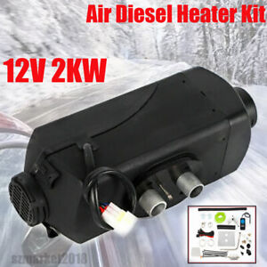 2KW 12V Air Diesel Heater Riscaldatore Aria Allu Bianco Boats Similar to Webasto