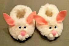 Cabbage Patch Kids Bunny Fur Slippers Shoes White