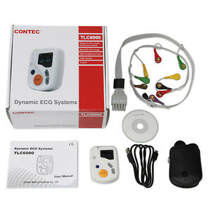 TLC6000 Dynamic 48hours 12 Lead ECG/EKG Holter Monitor Alalyzer Software Contec
