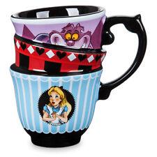 Disney Store Alice in Wonderland Teacup Mug Cheshire Cat White Rabbit New